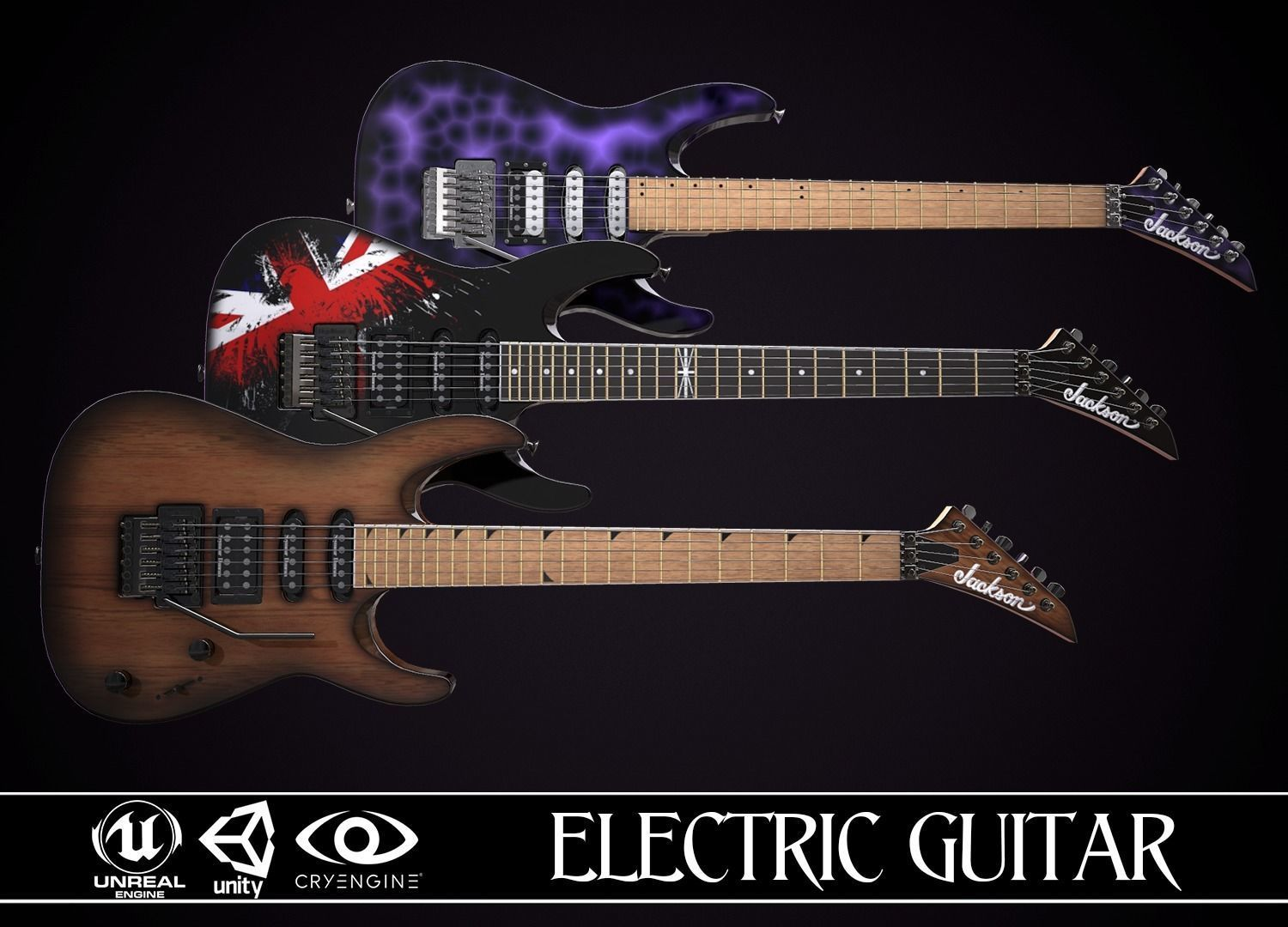 Electric Guitar Jackson Dinky 3 skins