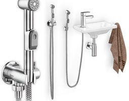3D model Hygienic shower and washbasin Ravak