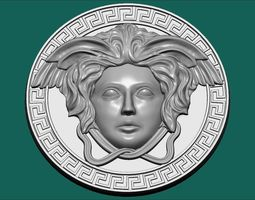 3D print model woman versace pendal coin
