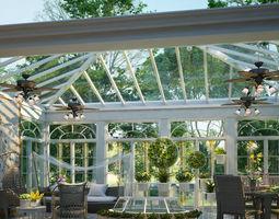Exterior landscape for home 3D