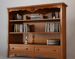 3D model Bookcase Halley