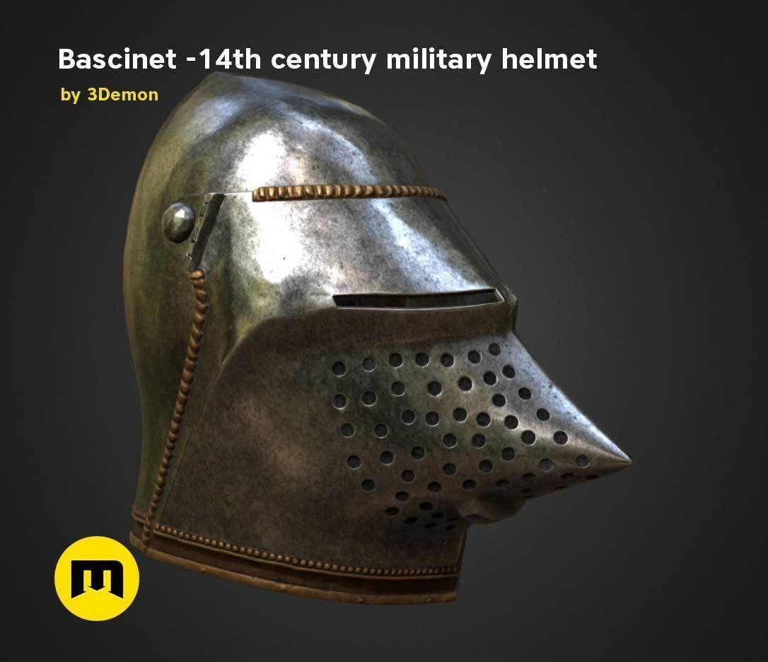 Bascinet -14th century military helmet | 3D model