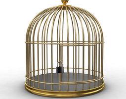 Golden Cage 3D model habitat