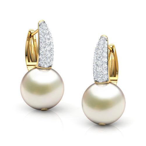Elegant Pearl Drop Earring Model Obj Mtl Fbx Stl M 1