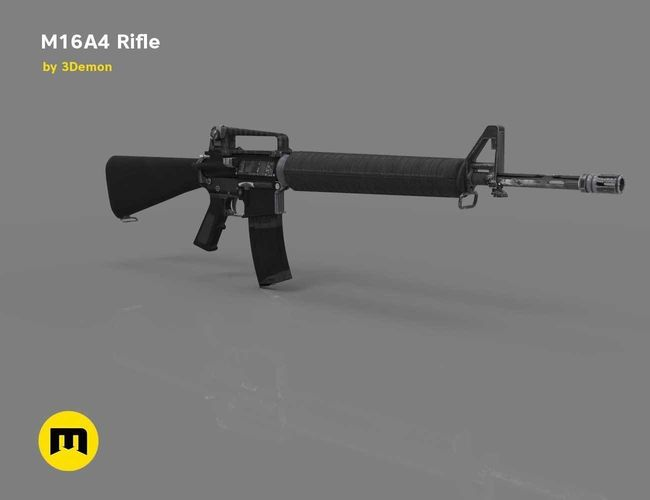 3d model m16a4 rifle cgtrader