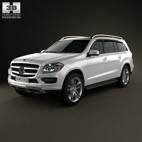 3D Model Mercedes-Benz GL-Class X166 2013