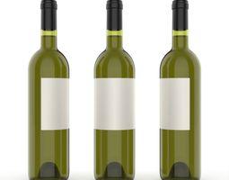 Wine bottle keyshot 3D