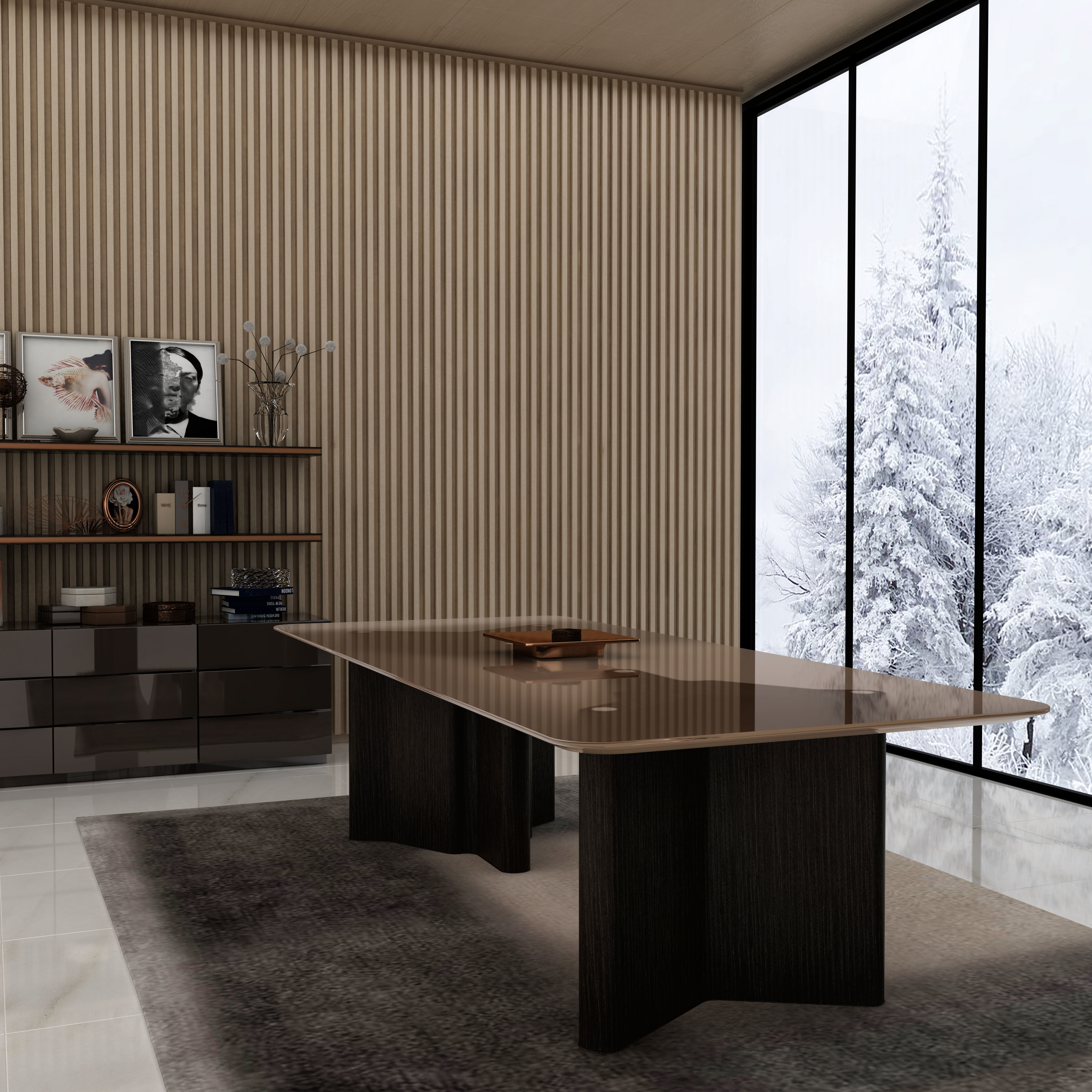 Minotti Lou Dining Table Cgtrader
