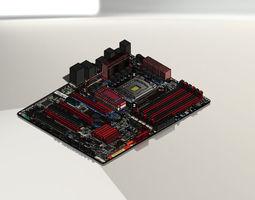 3d model asus p6t-se motherboard