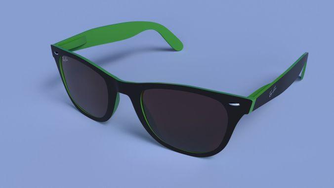 71836ac5e4 Ray ban wayfarer 3D model