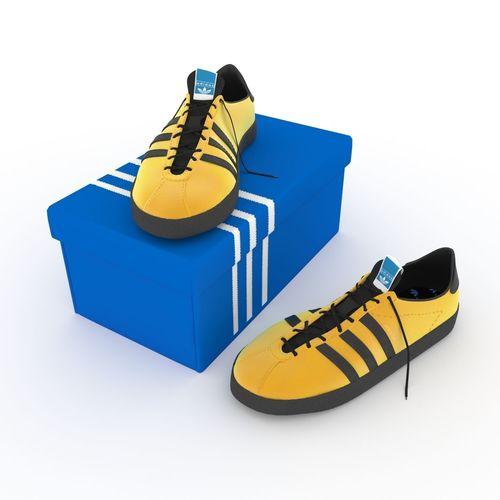 Cgtrader Shoes Jamaica 3d Model Adidas wEtxq4cIST