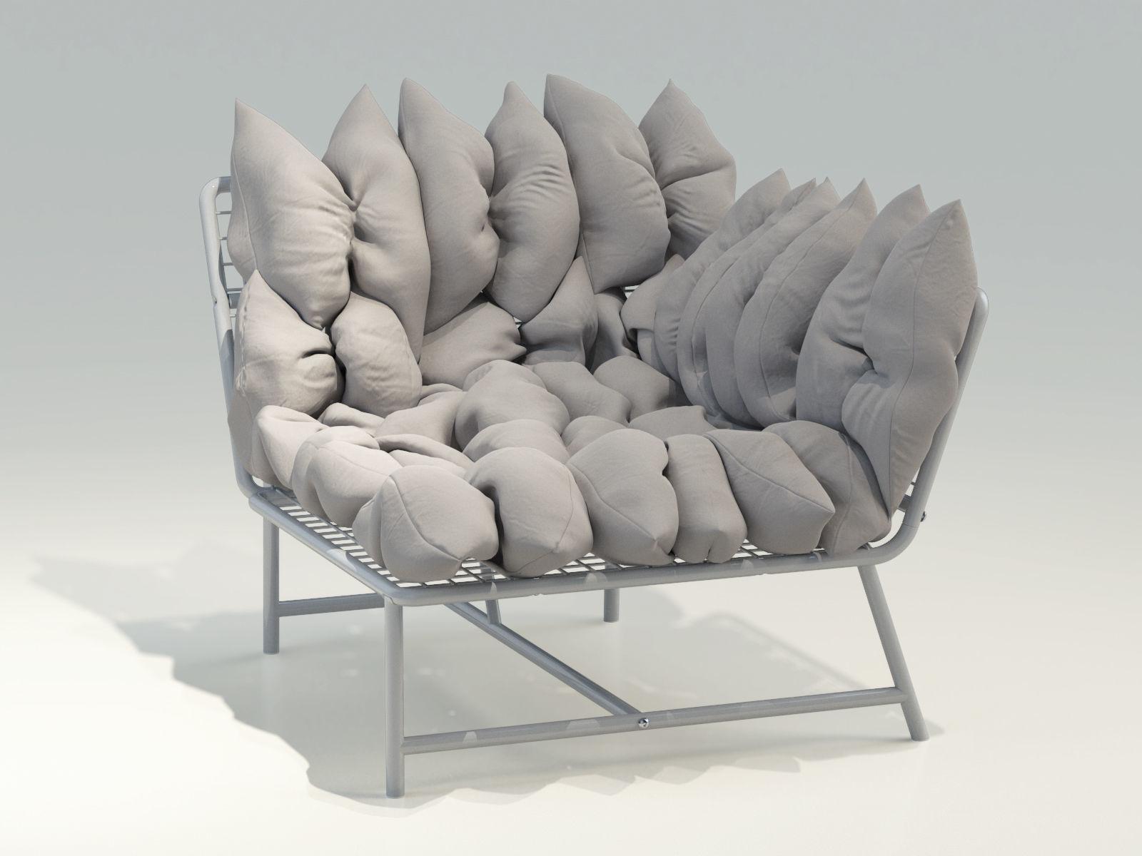 Ikea Ps 2017 Corner Easy Chair Left Model Max Obj Mtl Fbx 2