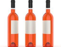 3D Wine bottle