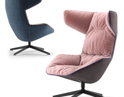 Moroso Armchair Take a Line For a Walk 3D