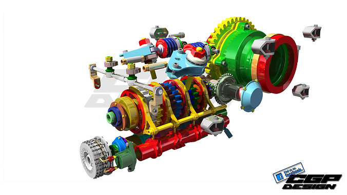 BHF1 gearbox design by ChikaAsistent