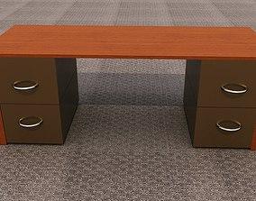 3D model Low poly office desk