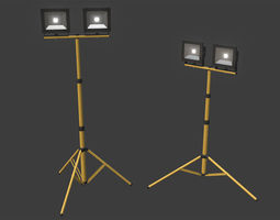 LED Work Light Stand 3D model
