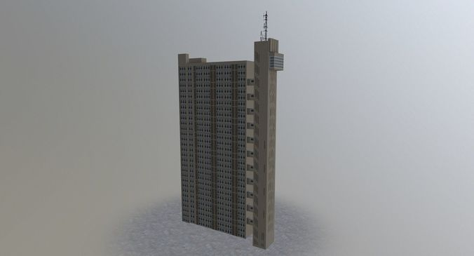 london trellick tower 3d model low-poly max obj mtl 3ds fbx 1