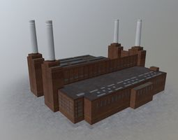 London Battersea Station 3D model