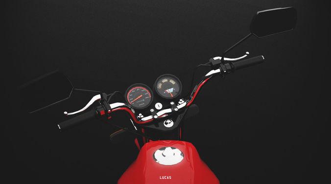 motorcycle 150cc 3d model max obj mtl fbx 1