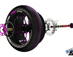 3D PINKI rear wheeldesigned by paX