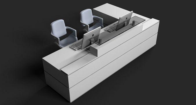 3d reception desk 03 3d model max obj mtl 3ds 1