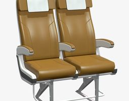 PBR airplane chair v2 realtime 3d model
