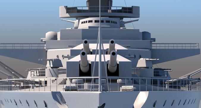battle ship 3d model max obj mtl 3ds fbx lwo lw lws dxf 1
