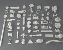 Kit bash-58 pieces - collection-1 3D model