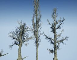 3D model game-ready Dead Tree Optimized Collection 1