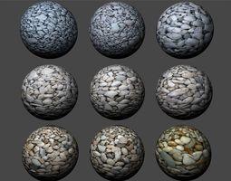 3D model Gravel Textures Pack 3