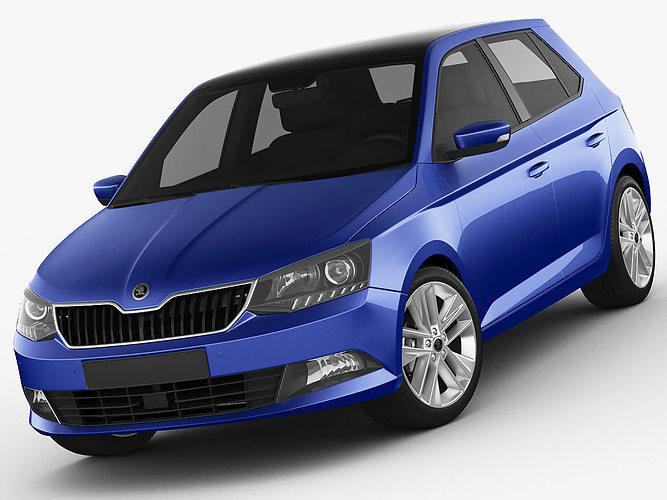 3d skoda fabia 2015 cgtrader. Black Bedroom Furniture Sets. Home Design Ideas