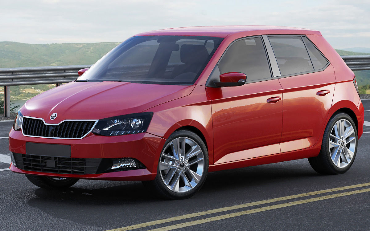 skoda fabia 2015 3d model max obj 3ds fbx c4d lwo lw lws. Black Bedroom Furniture Sets. Home Design Ideas
