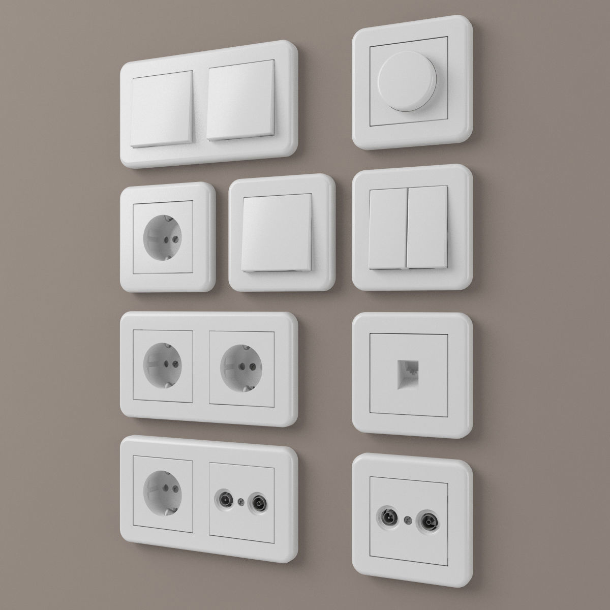 European outlets and light switches 2 - electrical