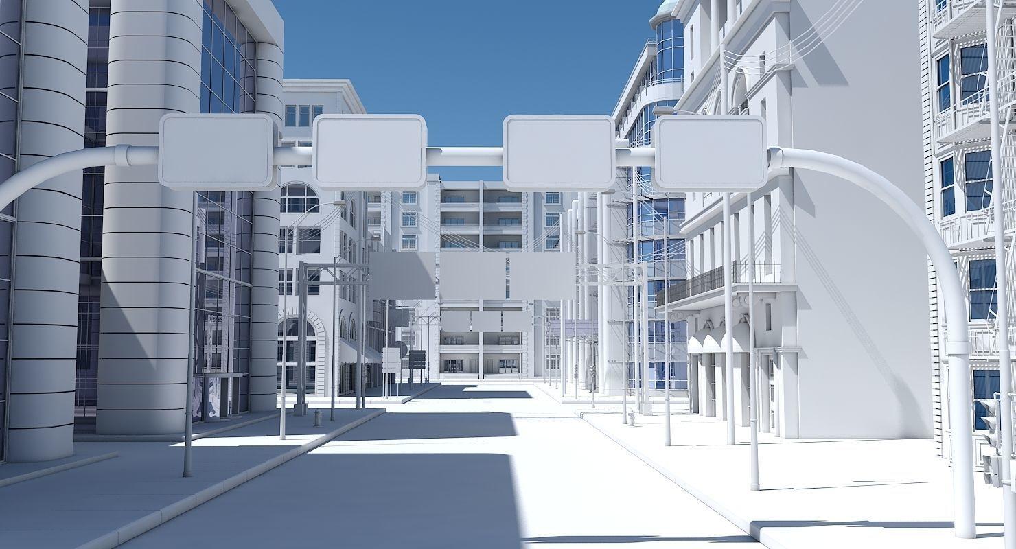 HD City Street Scene | 3D model