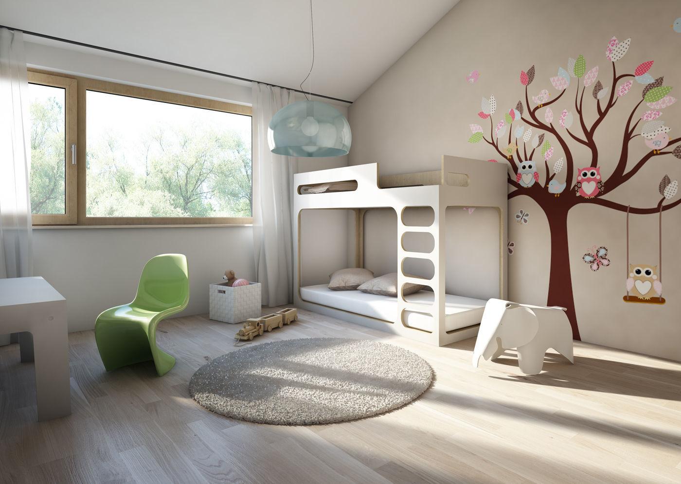 Fabelhaft Hochbett Modern Ideen Von Perludi Bed For Children - Bunk Bed