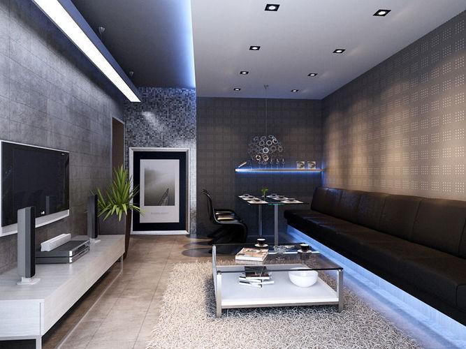 002 living room 3d model max for Living models