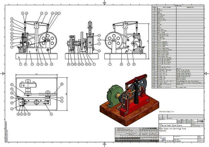 mini steam engine and centrifugal pump 3d model ige igs iges mini steam engine and centrifugal pump 3d model cgtrader