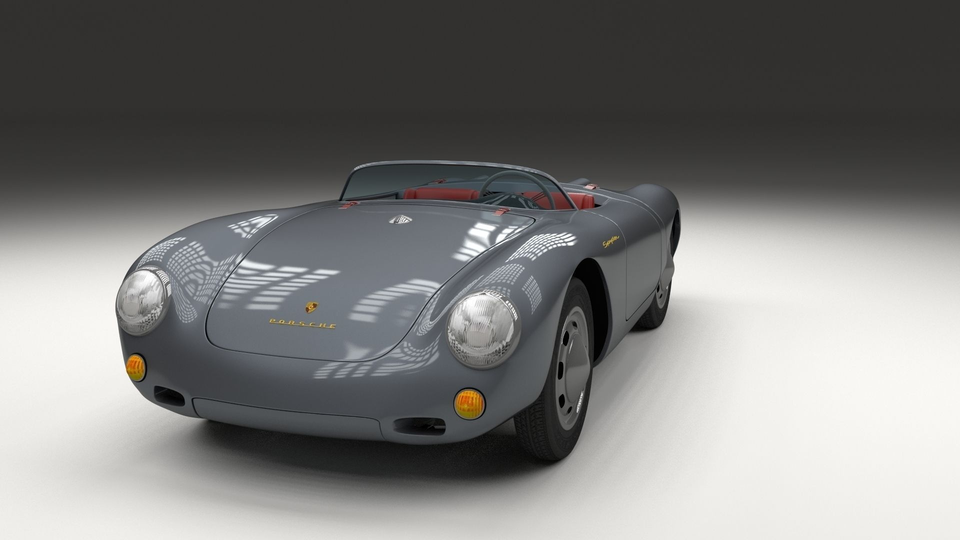 Porsche 550 Spyder Gray 3d Model Obj Stl Blend Dae