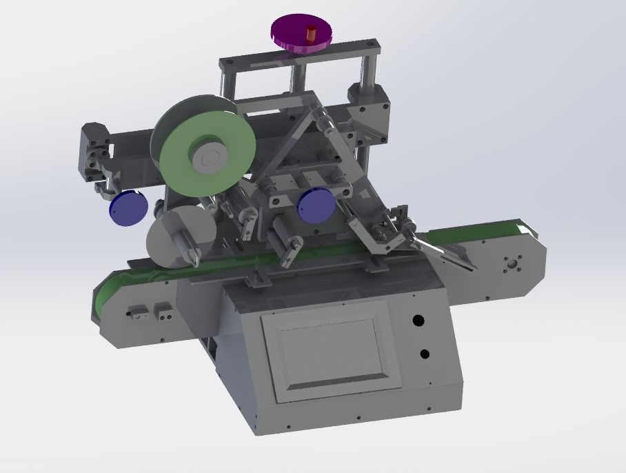 Table type labeling machine