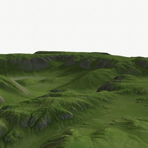 landscape 37 3d model low-poly obj mtl 1