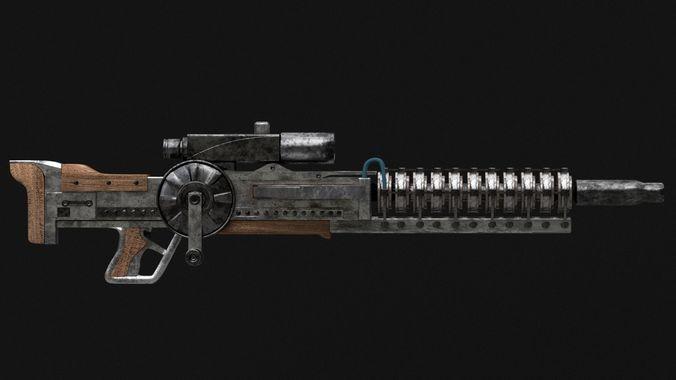 Gauss Rifle from Fallout 3   3D model