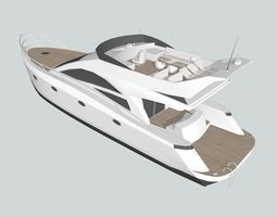 3d model yacht 1 game-ready
