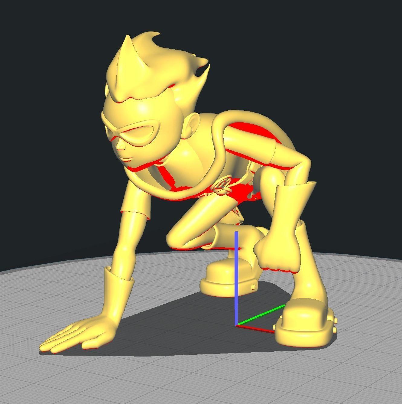 Teen Titan Robin Crouched