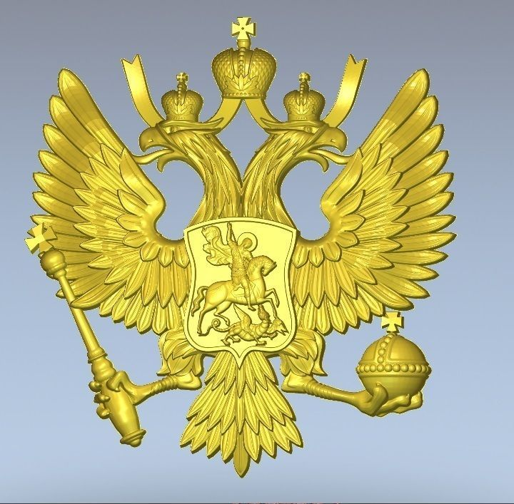 Russian Two Headed Eagle Coat Of Arms 3d Model Stl 3dm