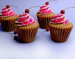 Cup Cakes 3D model