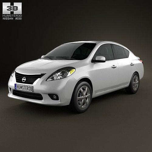 Nissan Versa Tiida Sedan 2012 3D Model