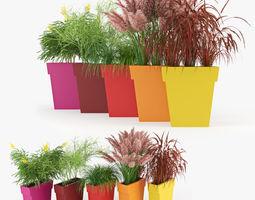 3d model il vaso outdoor planter color