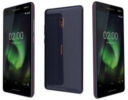 Nokia 2 Point 1 Blue Copper 3D model
