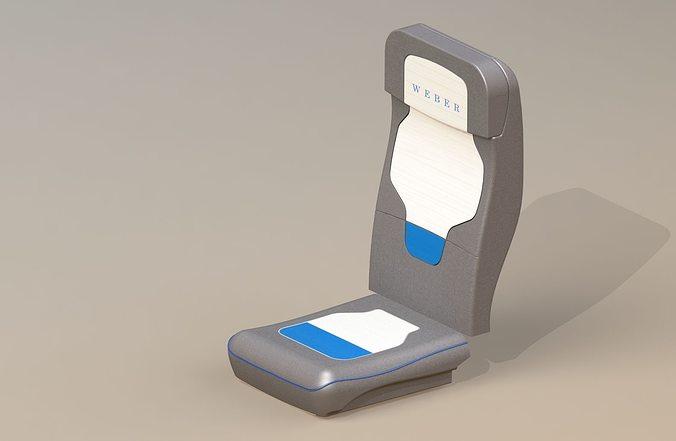 airplane seat 3d model stl ige igs iges 1